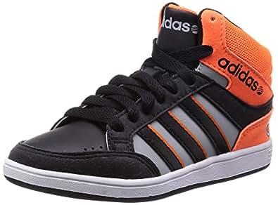 Adidas Cerceaux Milieu Scarpe pour enfants, Garçon - Bébé, Nero/Gris/Orange, 30