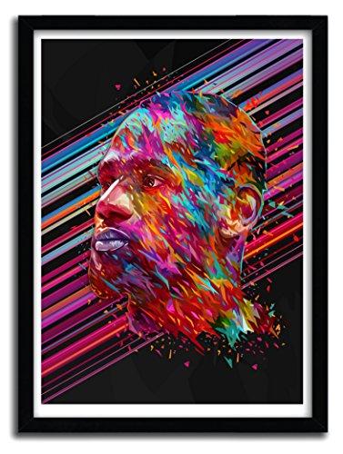 K.Olin Tribu - Affiche Lebron James par Alessandro Pautasso, Papier, Blanc, 40 x 60 x 0.1 cm