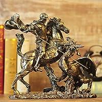 Sculpture Ornament Artwork Ancient Greek Knight Dragon Armor Model Roman Armored Warrior Creative Bar Furnishing Home Jewelry Crafts