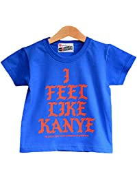 Nippaz With Attitude I Feel Like Kanye - Cool Kids Hip Hop Slogan T-Shirt in Royal Blue. Sizes from 1 to 11 Years.