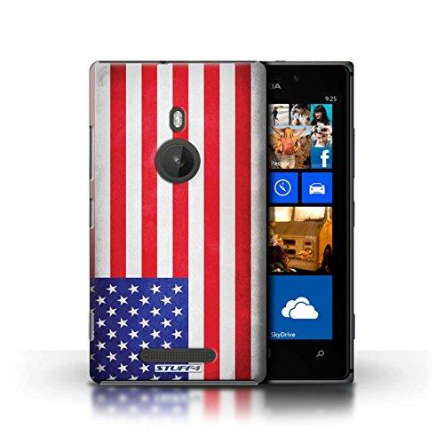 Kobalt® Imprimé Etui / Coque pour Nokia Lumia 925 / Royaume-Uni/Britannique conception / Série Drapeau Amérique/americain