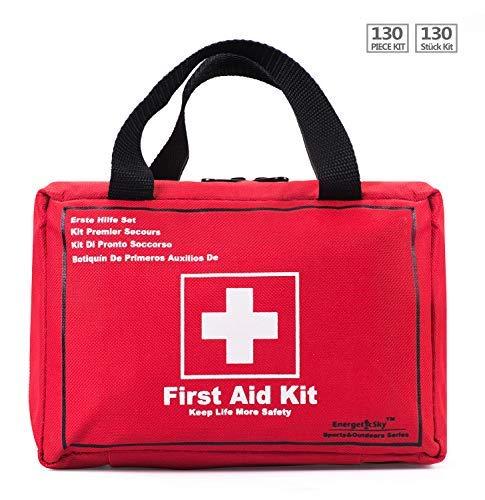 ❤Mantenere La Vita Più Sicurezza!❤ Cassette di pronto soccorso sono accuratamente studiate per garantire che tu e i tuoi cari può godersi la pace della mente e sapendo che sono sempre pronti in caso di emergenza.Il nostro primo aiuto kit sono leggeri...