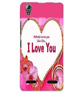 ColourCraft Love Design Back Case Cover for LENOVO A6000