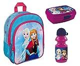 Familando FRZH7601 Disney`s Eiskönigin 3tlg. Rucksack-Set mit Brotdose und Trinkflasche z.B. für den Kinder-Garten