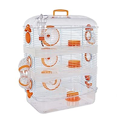 AmazonUkmiscellaneous Pet Ting Orchid Hamster Cage - 3 Storey - For Hamster, Dwarf Hamsters, Mice, Gerbils Etc () by Pet Ting