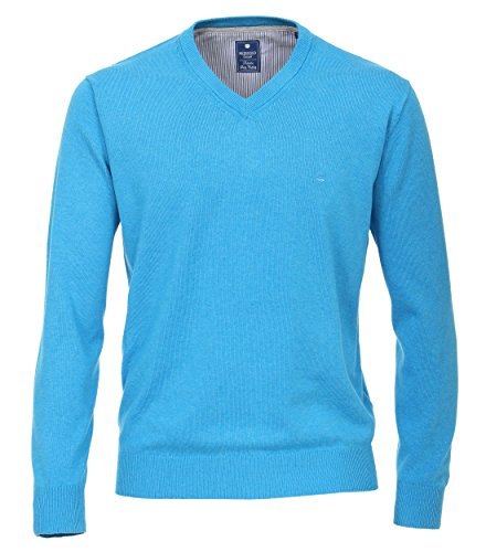 Redmond Herren Pullover unifarben Regular fit Cotton Melange Quality
