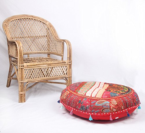 jth etnica Decor pouf rotondo anticato saree