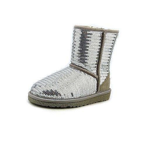 Ugg Australia Pailletten Stiefel Größe: 2 Farbe: silber (Silber Pailletten Stiefel)