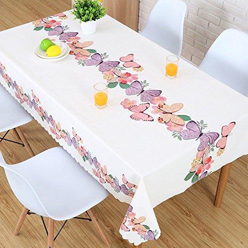 DONG Land-Blick-rechteckige PVC-Tabellen-Abdeckung, kein Wäsche-Abwischen-Öl-sicherer Tabellen-Schutz 53.1 * 70.9inches (Farbe : Purple)