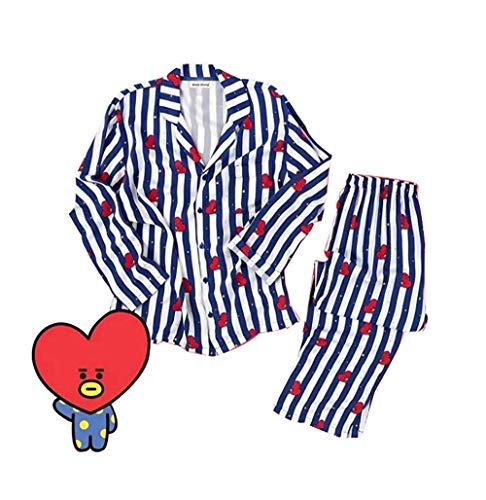 FANMURAN KPOP BTS Bangtan Boys BT21 Cartoon Version Jung JOOK Jimin V Same  Harajuku Pajamas Long a719d46f4