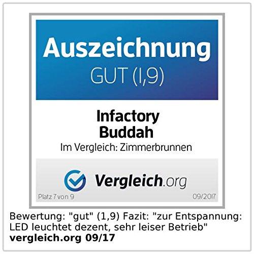 Beleuchteter Zimmerbrunnen | Gartenbrunnen | Buddha | infactory - 3