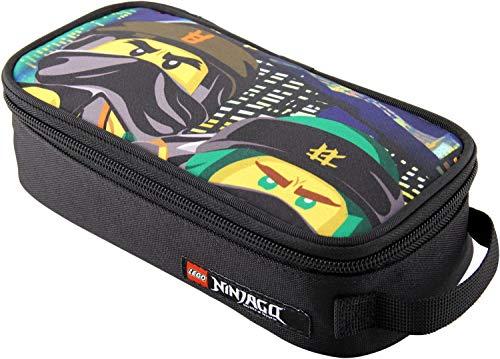 LEGO Bags Stiftebox, Faulenzer quadratisch, Schlamper Box mit Lego Ninjago Motiv Urban, Federmäppchen ca. 21 cm