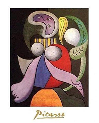 1art1 39597 Pablo Picasso - Femme Á La Fleur, 1932 Poster Kunstdruck 30 x 24 cm