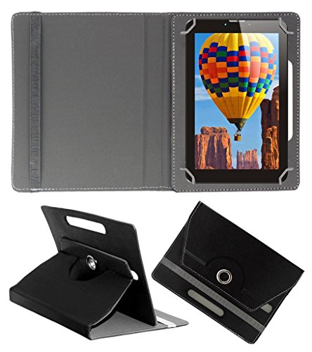 Acm Rotating 360° Leather Flip Case For Tescom Bolt 3g Tablet Cover Stand Black  available at amazon for Rs.149