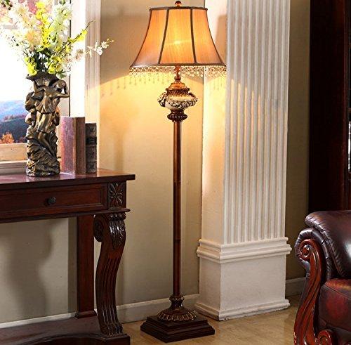 CN American Retro Sofa Stehleuchte Antiken Stehlampe Geschnitzte Chinesische Holz Farbe Klassische Harz Beleuchtung -