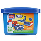 Mega Bloks Create N Play Blue Tub Endless Building 200 Pieces