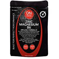 Zinc Magnesium B6 240 Capsules 500mg | Deluxe Formula | Upto 3 months supply | Contains Zinc for Testosterone Levels