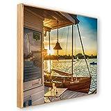 Hamburg Bild Holz *Neue Freiheit* Holzdruck Birke 19x19cm Geschenkidee Souvenir aus der schönsten Stadt der Welt Wandbild zum hängen und aufstellen