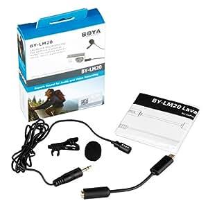 Micro-cravate condensateur à électret de BOYA®-Micro pour Gopro Hero 4 3+ 3 2 et d'autres DSLRs caméscopes Fonction audio enregistrement de grande gamme de fréquences sonores
