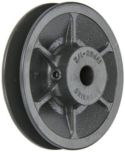 Browning 1VP40X 1/2Variable Pitch Laufrolle, 1Groove, beendet Bohrung, Gusseisen Laufrolle, für 3l, 4L oder ein, 5l oder B Abschnitt Gürtel -