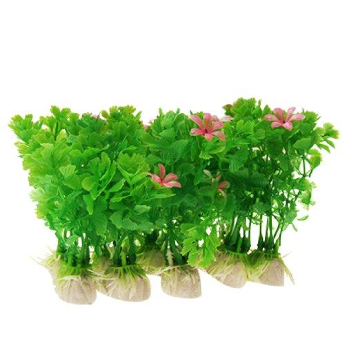 Jardin Kunststoff Aquarium Fish Tan Short Grass Dekor Pflanzen, 10-tlg., grün