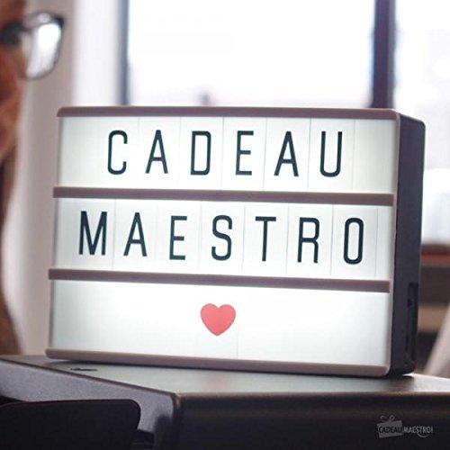 Lightbox A6(90caracteres)–regalo Maestro