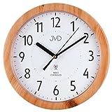 JVD RH612.7 Wanduhr Funk Funkwanduhr analog buche farben rund