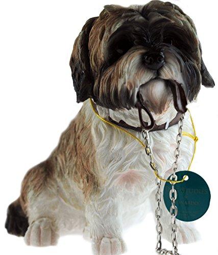 Marsupio 19cm nero bianco Shih Tzu Dog Ornament figurine
