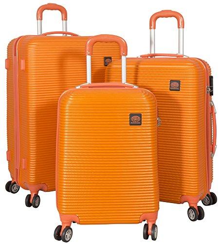 Kofferset 3tlg Hartschale Farbe orange ABS Größen S M L Trendyshop365