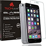 TECHGEAR® Apple iPhone 6, iPhone 6s (4.7 Inch) GLASS Edition Genuine Tempered Glass Screen Protector Guard Cover [100% 3D Touch Compatible]