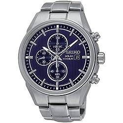 Seiko SSC365P1 Solar - Wristwatch men's, Titanium, Band Colour: Grey