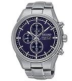Seiko Herren Analog Quarz Uhr mit Titan Armband SSC365P1