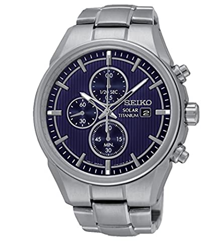 Seiko SSC365P1 Solar - Wristwatch men's, Titanium, Band Colour: (Riserva Orologio Di Lusso)