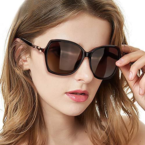 TosGad Damen Sonnenbrillen Polarisiert Retro Damenbrille mit Strass 100% UVA UVB Schutz