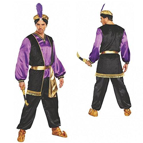 Dreamgirl Kostüm Sultan Omar Gr. M-XXL Tunika Hose Turban 1001 Nacht Märchen Orient (XL) (Dreamgirls Kostüm Größentabelle)