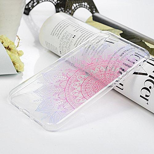 iPhone X Coque Mavis's Diary Étui Housse Coque de Protection TPU Silicone Gel Transparente Antichoc Bumper Original Phone Case Cover pour iPhone X Ultra Souple Flexible Léger + Chiffon Motif 4