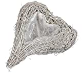 matches21 - Vaso a Forma di Cuore, per Piante, in Rattan Intrecciato, Materiale Naturale, Disponibile in 2 Misure