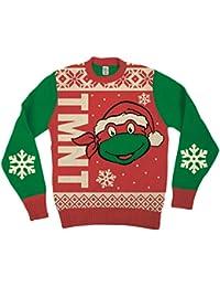 Teenage Mutant Ninja Turtles Big Turtle Gesicht Erwachsene Rot hässlich  Weihnachten Sweater 38f3c1ebdd