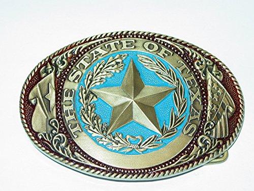 """'Cinturón Hebilla """"The State of Texas (metal)"""