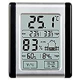 [2017 Neuestes] Thermo-Hygrometer, E2Buy® Digitales Touch-LCD-Mini-Thermometer mit magnetischer Rückseite, Temperatur- und Feuchtigkeitsmonitor mit MIN / MAX-Aufzeichnungen -