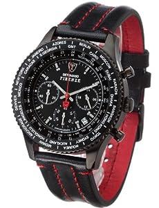 Reloj Detomaso FIRENZE Chronograph SL1624C-BK1 SL1624C-BK1 de cuarzo para hombre, correa de cuero color negro (cronómetro) de Detomaso