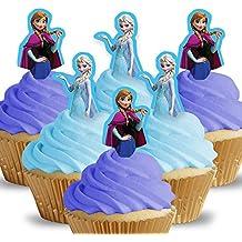 12 x Cakeshop decoración para pasteles comestibles PRECORTADAS de Disney Princesas Frozen Anna
