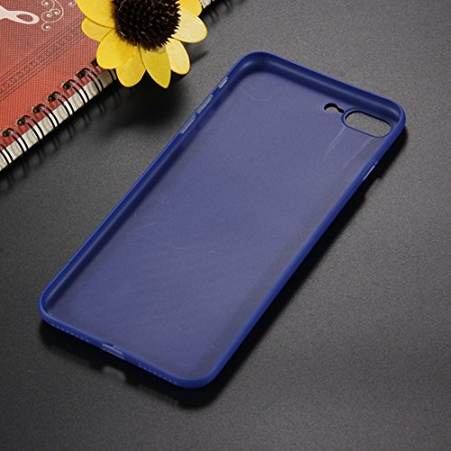 Hülle für iPhone 7 plus , Schutzhülle Für iPhone 7 Plus Carbon Fiber Texture PP Schutzmaßnahmen zurück Fall Fall ,hülle für iPhone 7 plus , case for iphone 7 plus ( Color : Dark blue ) Dark blue