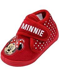 Minnie - chausson antidérapant - rouge - bébé fille