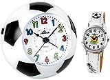 Atlanta Kinderwecker ohne Ticken Fußball WM + Kinderarmbanduhr - 1199 KAU