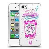 Head Case Designs Boisson d'arc-en-Ciel Plaisirs De Licorne Étui Coque D'Arrière Rigide pour Apple iPhone 4 / 4S