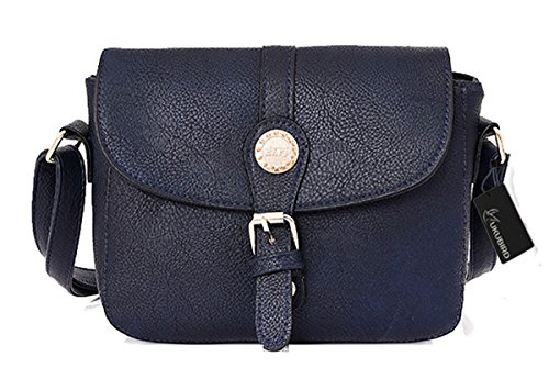 Kukubird Rebecca Qualità Ecopelle Crossbody Design Top-manico Spalla Tote Handbag Blue