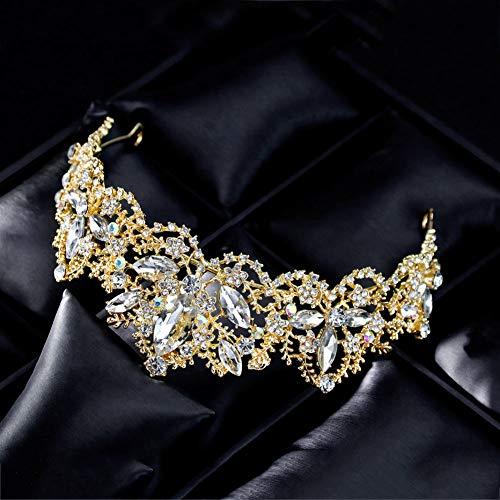 Dastrues Vintage Braut Crown Frauen hohlen Kopfschmuck scheint Prom Hochzeit Kronen Strass Dekor