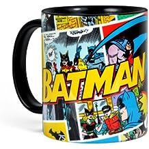 Batman - taza retro del cómic - adecuada para microondas y lavavajillas - 300 ml - cerámica