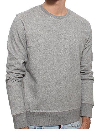 YTWOO Herren Sweatshirt aus Bio-Baumwolle- Scott nachhaltige Mode Langarm Pullover nachhaltige Mode Fair Trade Sweatshirt stylisches Bio Sweatshirt Kba Graumeliert